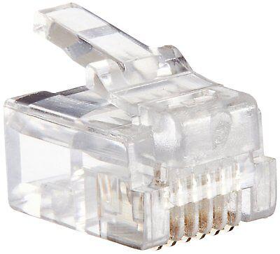 - Platinum Tools 106138J RJ-12 (6P6C), Round-Solid 3 Prong Connector, 100 Piece