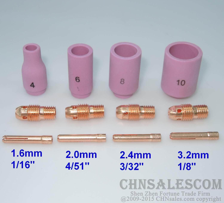 """TIG Welding 13N12 #8 1//2/"""" Alumina Nozzle Ceramic Cup fit TIG WP9 WP20 Qty 10"""