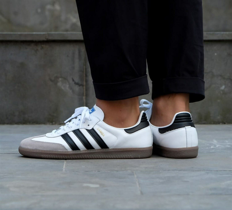 B75806 Mens Adidas Originals Samba Og Sneaker White Black