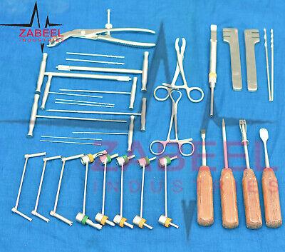 Veterinary Orthopedic Instruments Implants Surgery 32 Pcs Set By Zabeelind