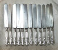 Coltelli Antichi Set 12 Silver Plated Handle Antique Swedish Knives Princess -  - ebay.it