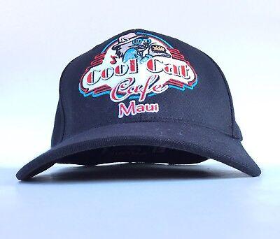 Cool Cat Cafe Best Burger In Maui Hawaii Baseball Cap Hat Flex Fit Men's