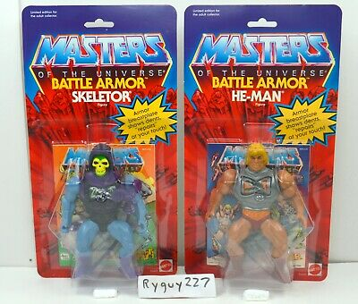 MOTU, Commemorative Battle Armor He-Man & Skeletor, MISB, MOC, box, sealed, MOSC