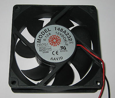 Aavid 80 Mm Cooling Fan - 12 V Dc - 32 Cfm - 27 Db - 12v Dc Fan - 12 Long Leads