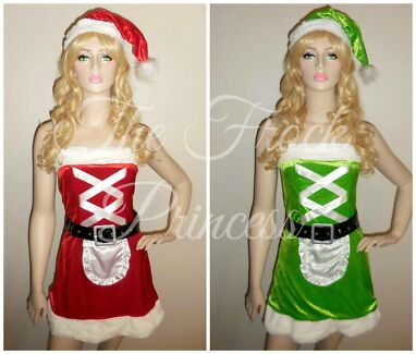 Super Cute Sexy  Reversible Santa Costumes