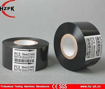 10rolls Black Hot Stamp Ribbon Fc2 1.18x 3937 For Coder Printer Machine Dy-8