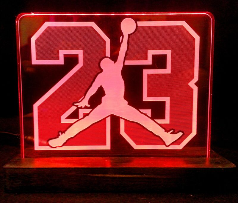 Jordan 23 LED lighted acrylic sign