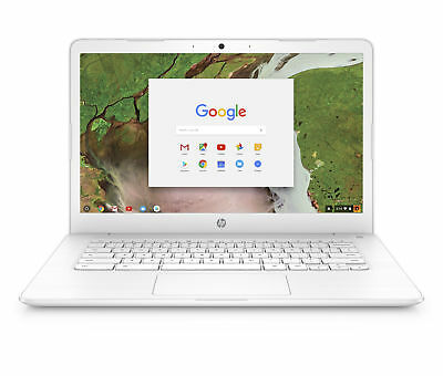 "HP 14-ca052wm 14"" Chromebook Intel Celeron N3350 4GB RAMMemory 32GB eMMC Snow"