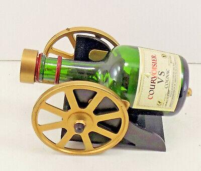 Courvoisier Vs Cognac - VINTAGE / ANTIQUE Courvoisier VS Cognac Bottle Stand CANNON Display COLLECTIBLE