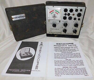Vintage Sencore Tc-130 Mighty Mite Iii Tube Tester Vacuum Tube Tester Powers On