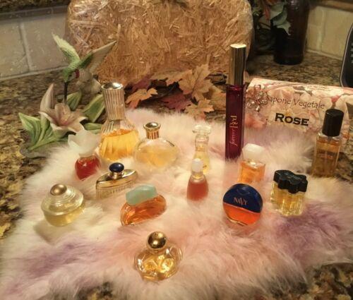 Vintage Set 14 Designer Perfume Parfum Miniatures Mini Vanity Bottles  Most FULL