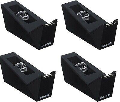 4 Pack Scotch Facet Design Desktop Tape Dispenser Black By 3m