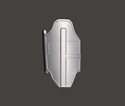 Star Wars The Mandalorian Season 2 Custom 3.75 Beskar Thigh Plate for Hasbro TVC