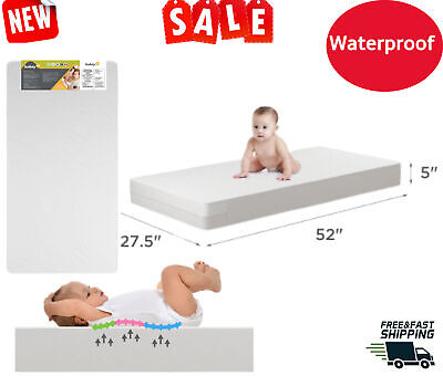 MATTRESS CRIB FOAM TODDLER Bed Baby Waterproof Infant Comfort Sleep Cushion Pad