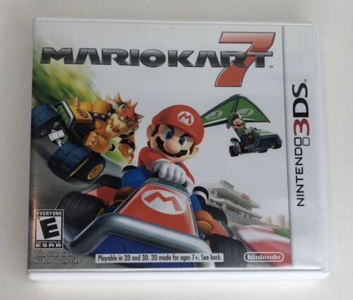 NO GAME Mario Kart 7 Nintendo 3DS, 2011 Case Inserts Only NO Manual - $9.85