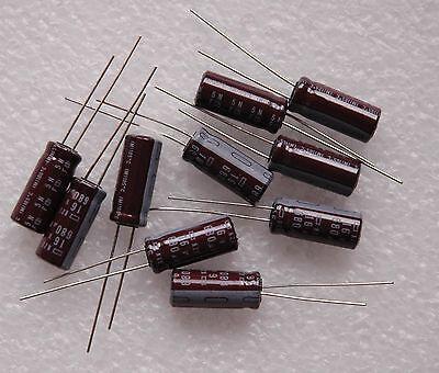 10 Pcs Nippon 16v 680uf 680mfd Radial Electrolytic Capacitor 8mmx20mm Japan