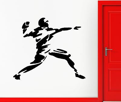 420 Rugby (Wall Vinyl Sticker Decal American Football Throw Ball Player Rugby (ed420))
