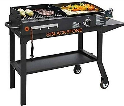 Outdoor Gas Grill Griddle Flat Top Charcoal Propane Stainless BBQ 2 Burner (Best Patio Gas Grill)
