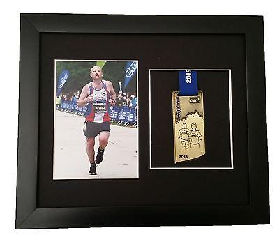 Marathon Medal Photo Frame Black