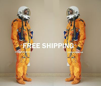 SPACESUIT FLIGHT HELMET  AIRTIGHT ASTRONAUT PILOT HELMET  FLYING SUIT-  P-3#