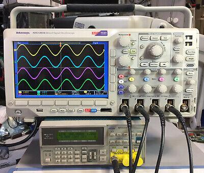 Tektronix Mso3034 Oscilloscope 300mhz 2.5gss 29 Hours