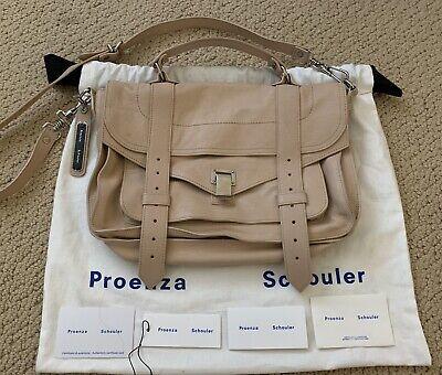Proenza Schouler PS1 Medium Light Beige Satchel/bag/purse- Excellent