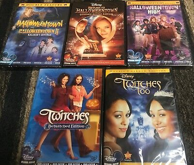 DISNEY HALLOWEENTOWN 1,2,3,4 DVD COMPLETE COLLECTION SET + TWITCHES + TOO! NEW!  - Disney Halloweentown