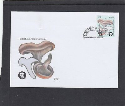 Estonia  2017 Mushroom Paxillus FDC Tallin special h/s