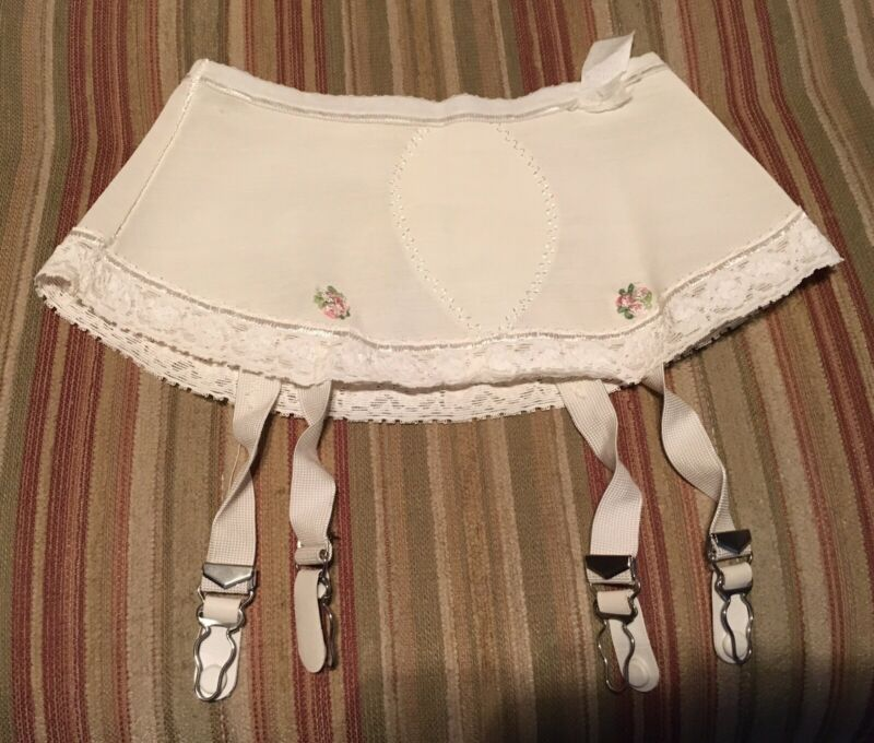 Vintage 1950's Woman's Skirted Garter Belt  Size Medium
