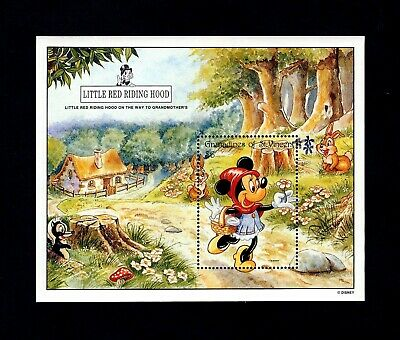 ST VINCENT - 1992 - DISNEY - RED RIDING HOOD - MINNIE MOUSE - MINT MNH S/SHEET!