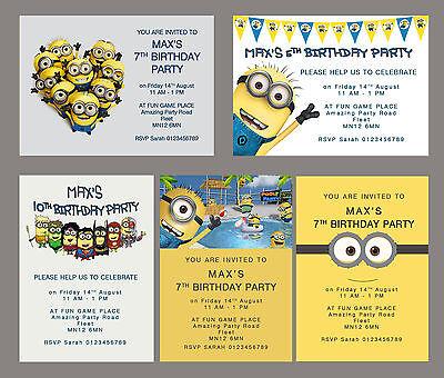 Minion Party Invitations •  Birthday • Party Invites • Personalised](Personalized Minion Birthday Invitations)