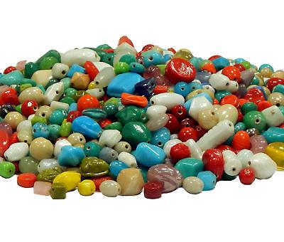 100g Indische Schmuck Perlen Keramik Glas Indianerperlen Gemischt BEST MIX21 (Perlen Indisches Schmuck)