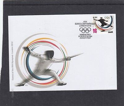 Estonia  2012 London Olympic Games First Day Cover FDC Tallin special h/s