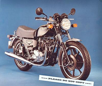 ORIG 1982 TRIUMPH MOTORCYCLE FACTORY PRESS PHOTO T140ES BONNEVILLE ROYAL 750
