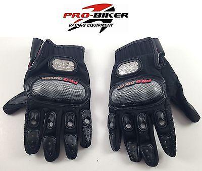 Pro Biker Motorcycle Armored Riding Black Carbon Gloves Harley Davidson Racing