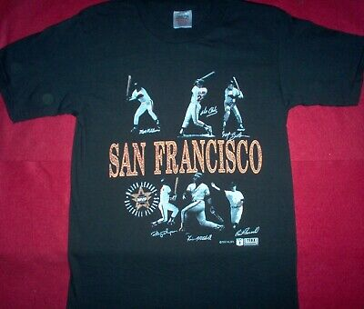 Vintage 1990 Exposure Wear San Francisco Giants MVP Team T-Shirt sz. Large -
