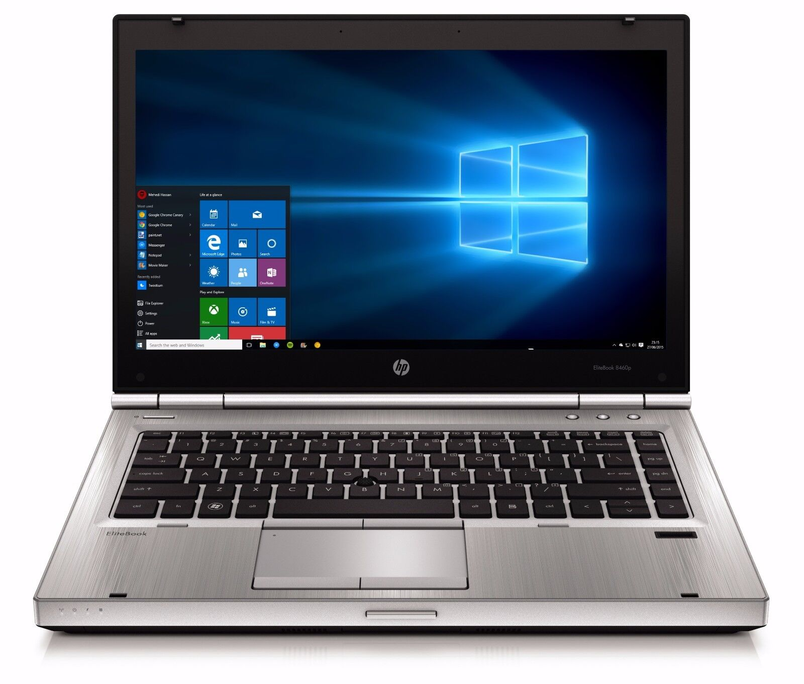 HP Elitebook Laptop Intel i5 2.5GHz 8GB 250GB Windows 10 DVD-RW Wifi HD Webcam