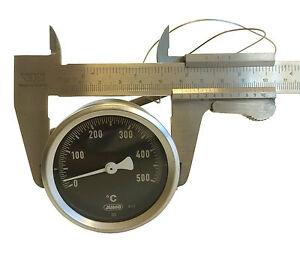 Thermometer 0-500°  für GGF Pizzaofen