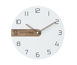 Moro Design Real Wood Nine Wall Clock non Ticking Silent Modern Clock (Classic)