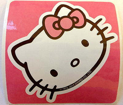 10 Hello Kitty Face Stickers Party Favor Teacher Supply Sanrio Cat Kitten  - Hello Kitty Party Supply