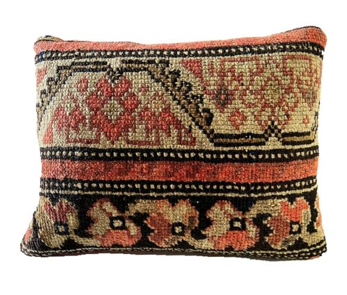 "19th Custom Made Antique  Malayer Pillow 13"" w"