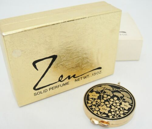 Zen Solid Perfume Compact Pendant Unused in Original Box Shiseido Cosmetics USA