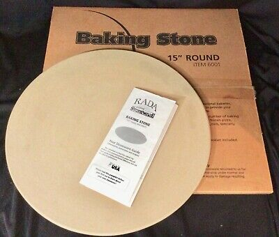 "RADA Cutlery Baking Pizza Stone 6001 Bread Oven Stoneware with Box 15"" Round USA, used for sale  Shipping to Nigeria"