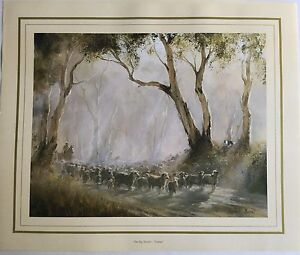 New Kevin Best Artist Painting Print - The Big Muster -
