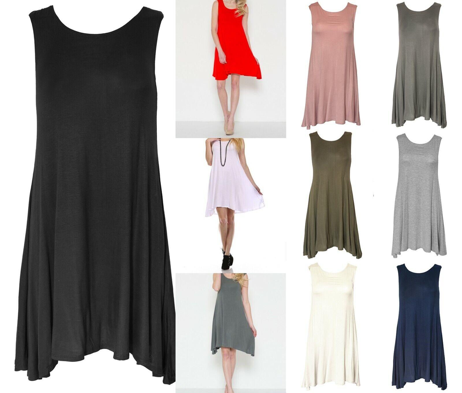 Women's Side Drop Tank Tunic Dress Clothing, Shoes & Accessories