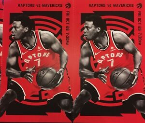 Raptors VS Dallas mavericks, FRI OCT 26, SECTION 114 Row 18