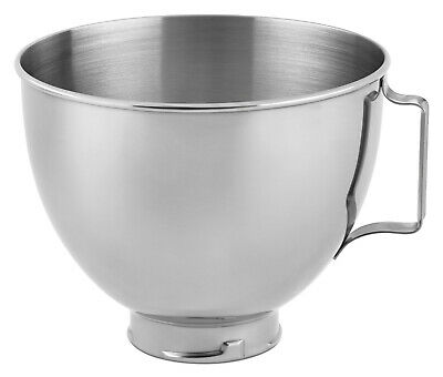 KitchenAid 4.5 Quart STAINLESS STEEL Mixing Bowl with Handle for STAND MIXER NEW