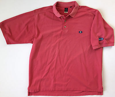 CALLAWAY Mens Golf Apparel Pink Cotton Polyester Short Sleeve Polo Shirt Sz XXL