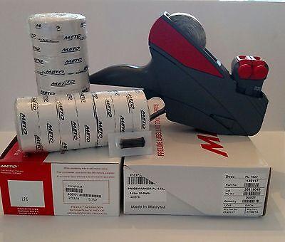 Meto Price Label Gun 15.22 2 Linevalue Pack Box White Labels Ink Roller