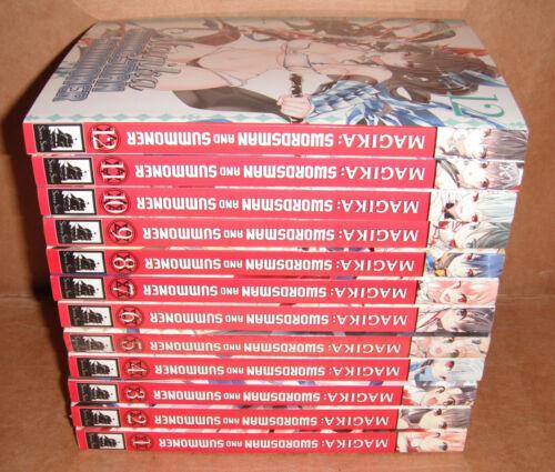 Magika Swordsman and Summoner Vol.1,2,3,4,5,6,7,8,9,10,11,12 Manga Set English